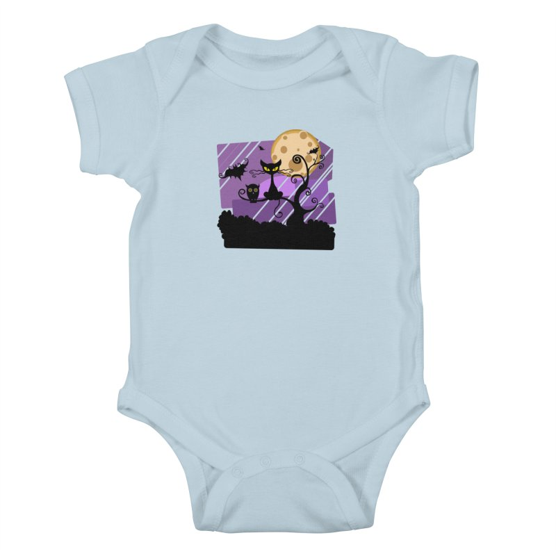 Halloween Night Kids Baby Bodysuit by Shirt For Brains