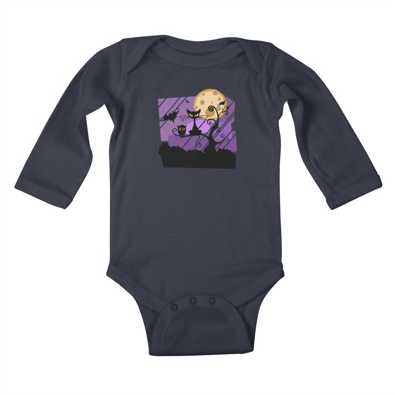 Halloween Night Kids Baby Longsleeve Bodysuit by Shirt For Brains