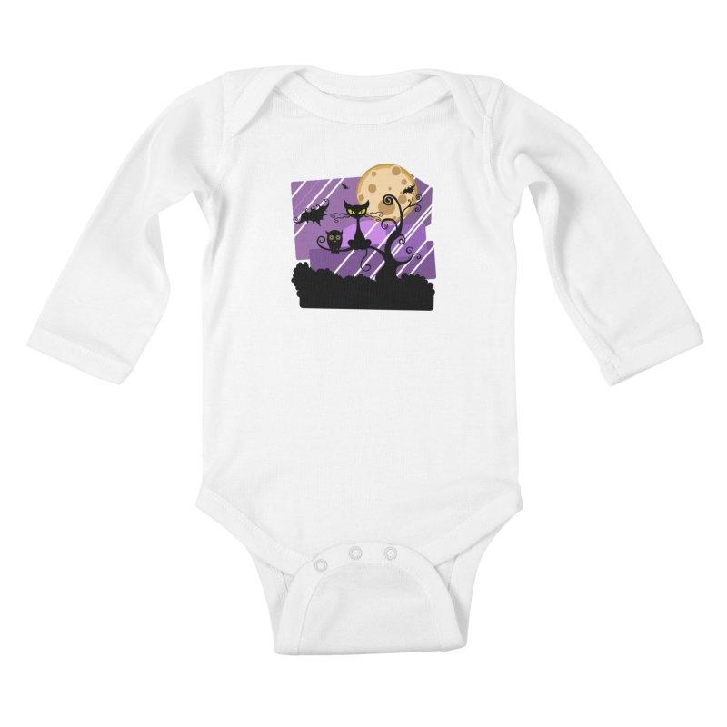 Halloween Night Kids Baby Longsleeve Bodysuit by Shirt For Brains