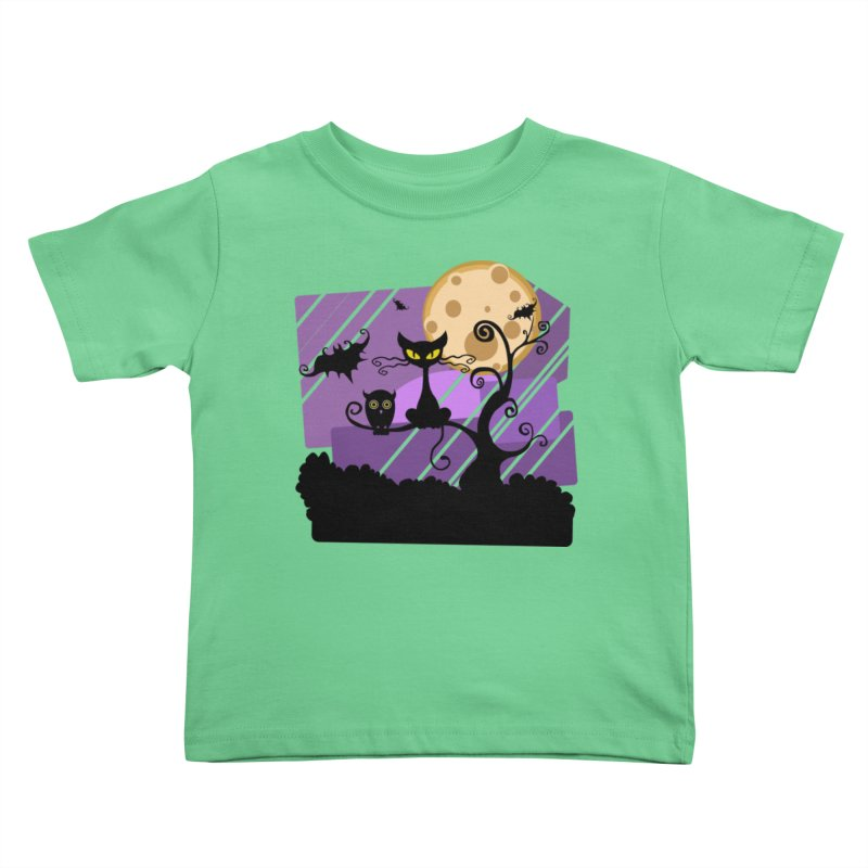 Halloween Night Kids Toddler T-Shirt by Shirt For Brains