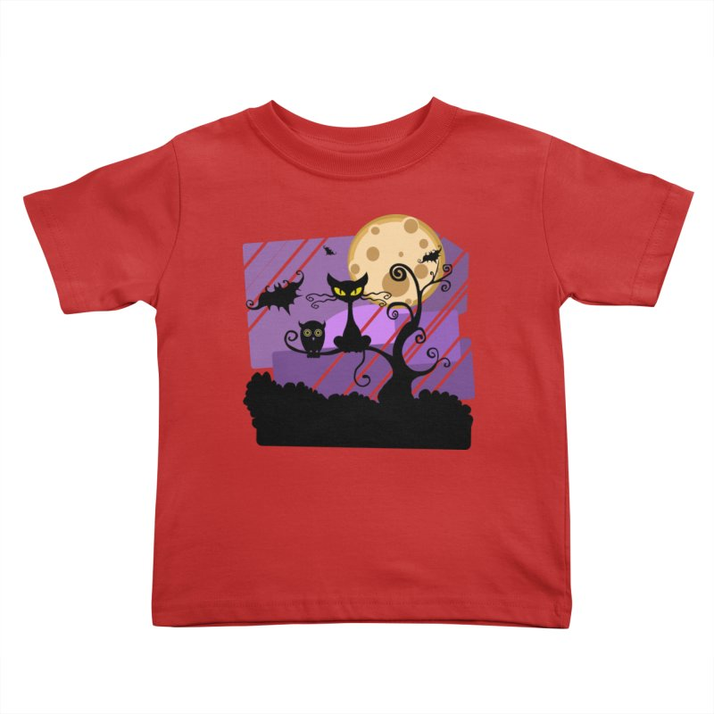 Halloween Night Kids Toddler T-Shirt by Shirt For Brains