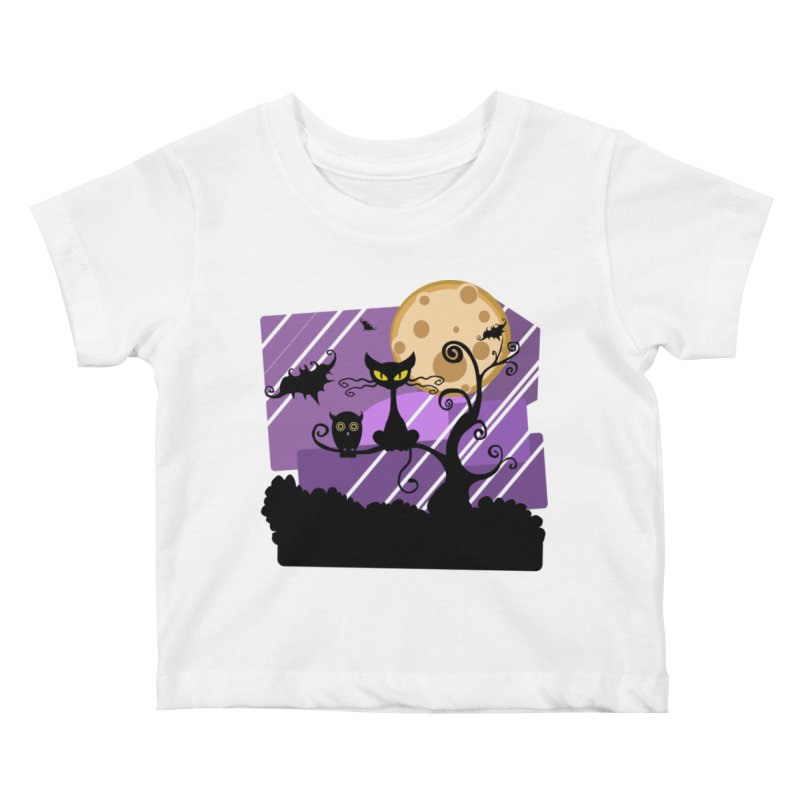 Halloween Night Kids Baby T-Shirt by Shirt For Brains