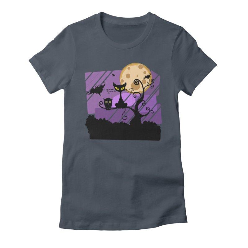 Halloween Night Women's T-Shirt by Shirt For Brains