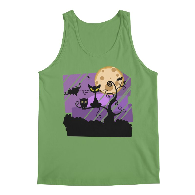 Halloween Night Men's Tank by Shirt For Brains