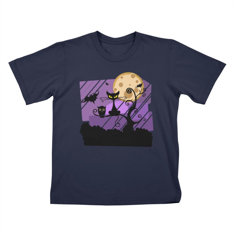Halloween Night Kids T-Shirt by Shirt For Brains