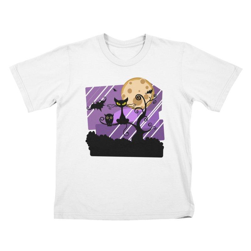 Halloween Night Kids T-Shirt by Shirt For Brains