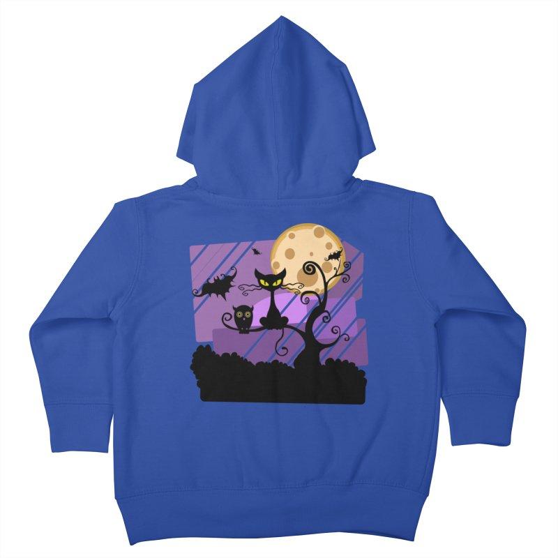 Halloween Night Kids Toddler Zip-Up Hoody by Shirt For Brains