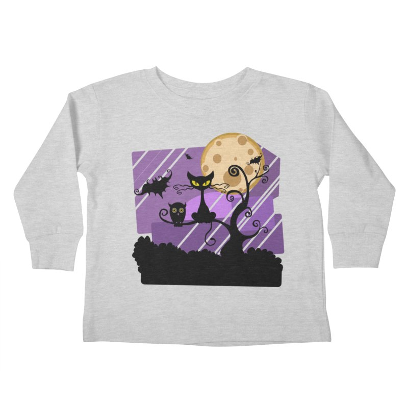Halloween Night Kids Toddler Longsleeve T-Shirt by Shirt For Brains