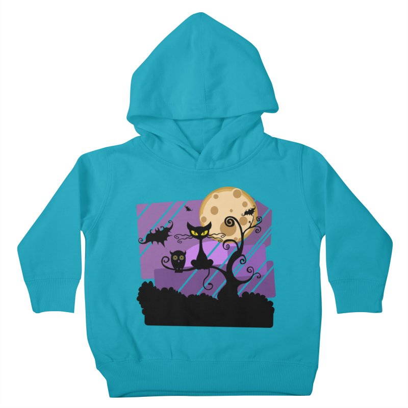 Halloween Night Kids Toddler Pullover Hoody by Shirt For Brains
