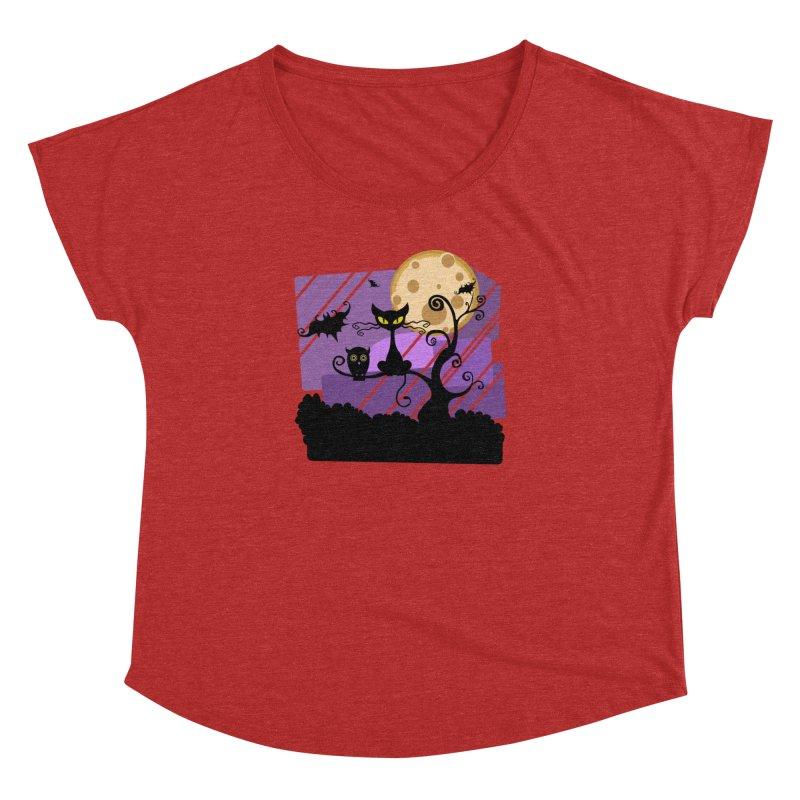 Halloween Night Women's Dolman Scoop Neck by Shirt For Brains