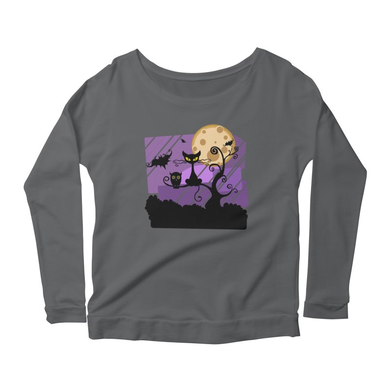 Halloween Night Women's Scoop Neck Longsleeve T-Shirt by Shirt For Brains