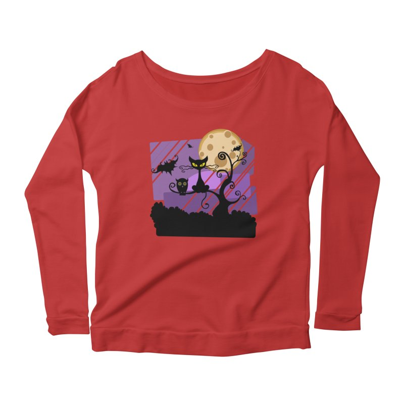 Halloween Night Women's Scoop Neck Longsleeve T-Shirt by Shirt For Brains
