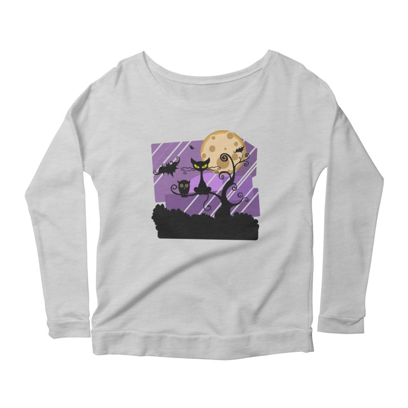 Halloween Night Women's Longsleeve T-Shirt by Shirt For Brains