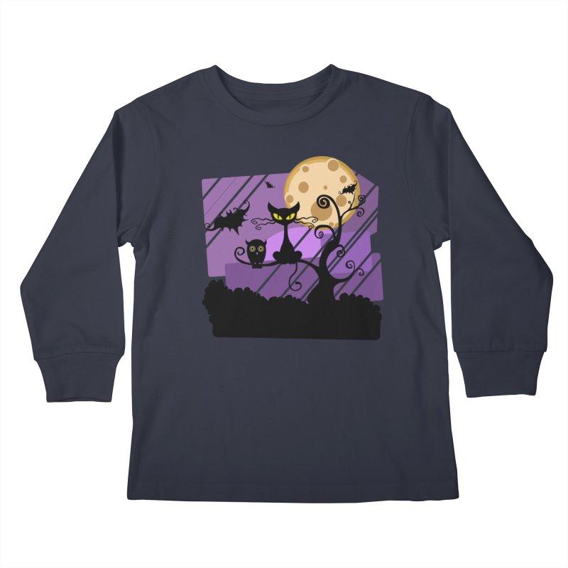 Halloween Night Kids Longsleeve T-Shirt by Shirt For Brains