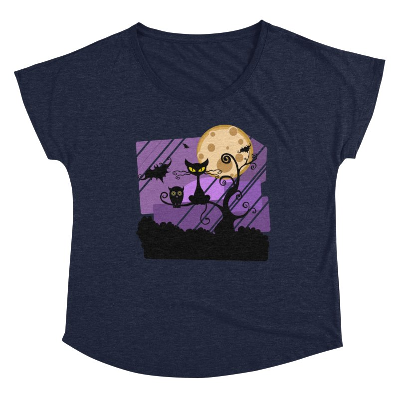 Halloween Night Women's Scoop Neck by Shirt For Brains