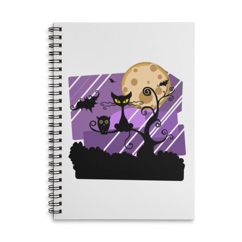 Halloween Night Accessories Notebook by Shirt For Brains
