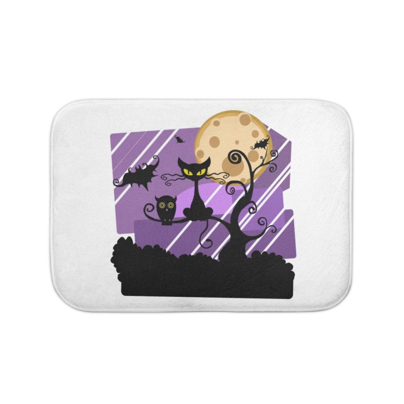 Halloween Night Home Bath Mat by Shirt For Brains