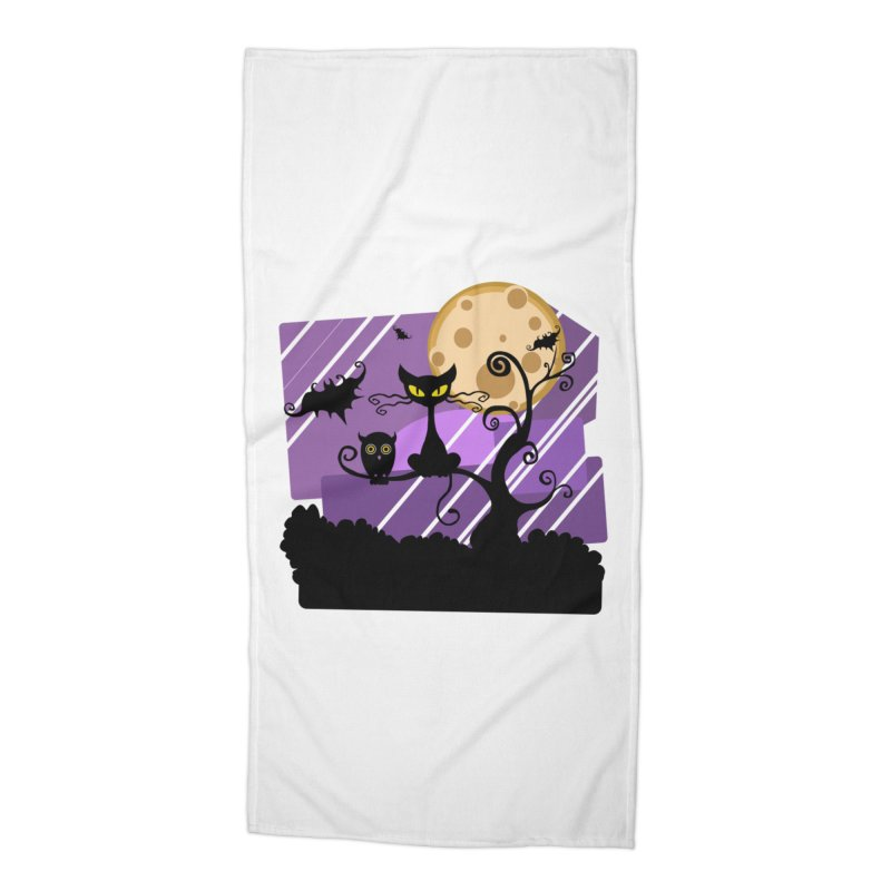 Halloween Night Accessories Beach Towel by Shirt For Brains