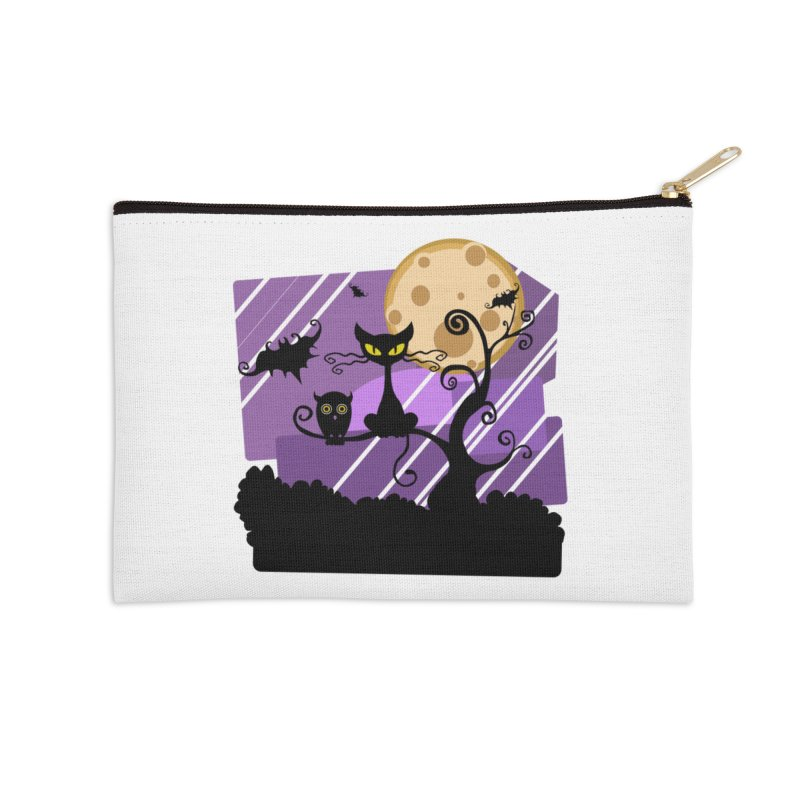 Halloween Night Accessories Zip Pouch by Shirt For Brains