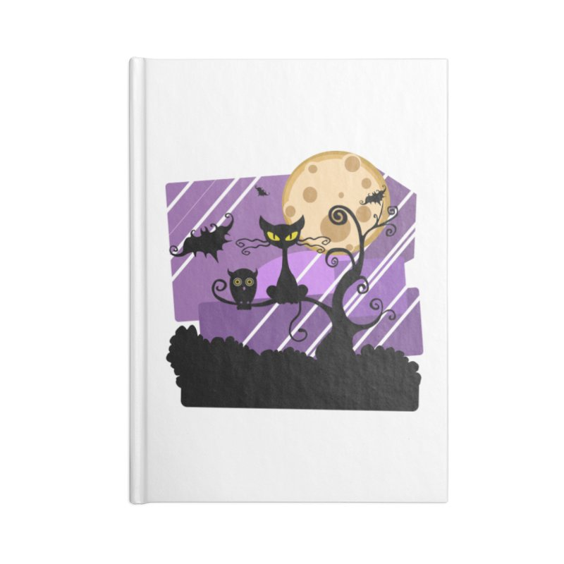 Halloween Night Accessories Lined Journal Notebook by Shirt For Brains