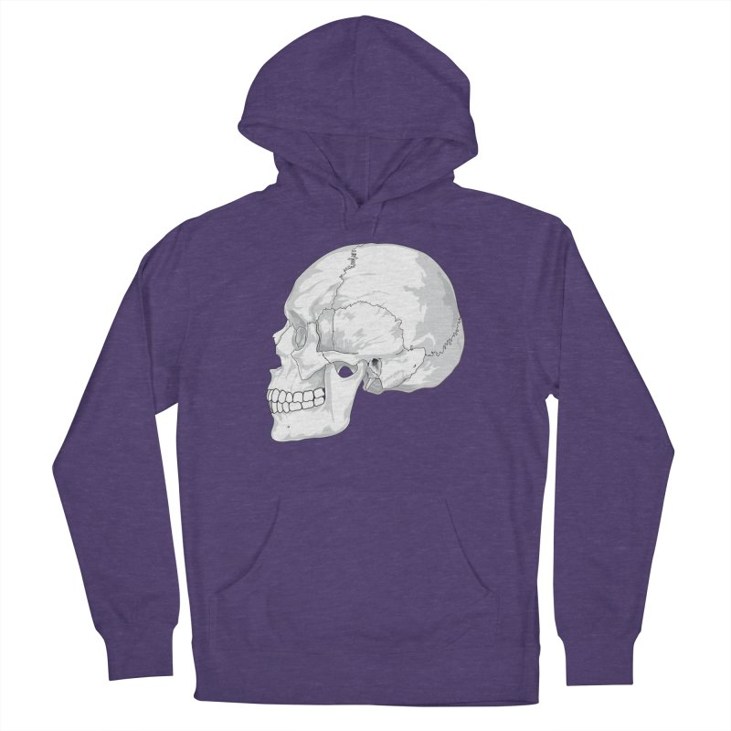 Skull Men's French Terry Pullover Hoody by Shirt For Brains