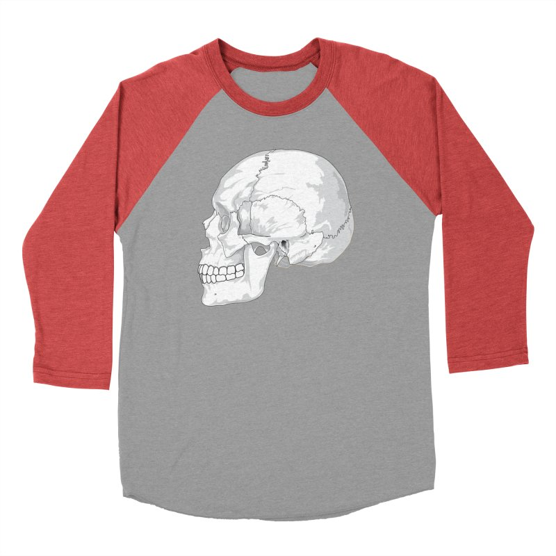 Skull Women's Longsleeve T-Shirt by Shirt For Brains