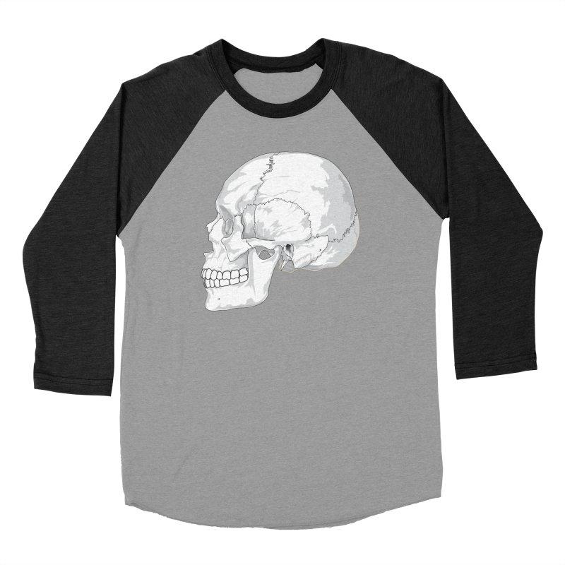 Skull Women's Longsleeve T-Shirt by Shirt For Brains