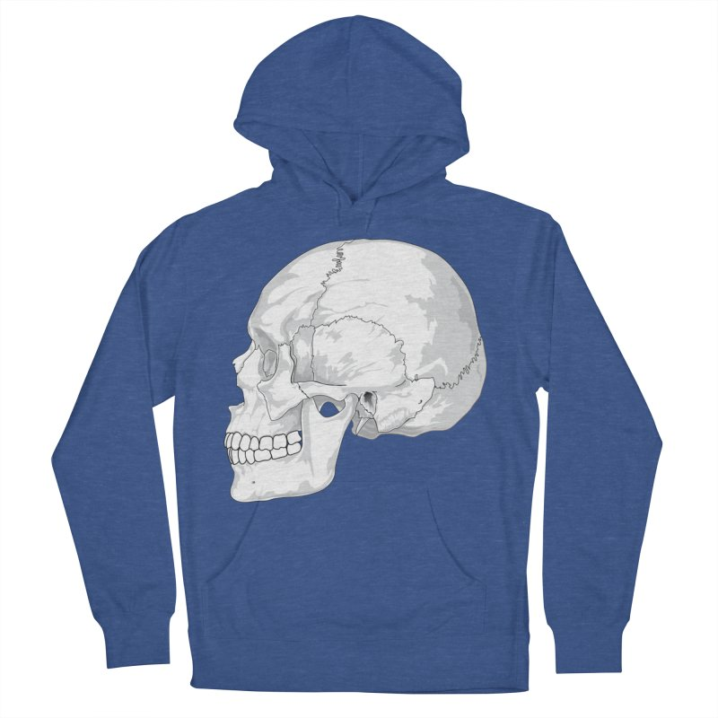 Skull Women's French Terry Pullover Hoody by Shirt For Brains