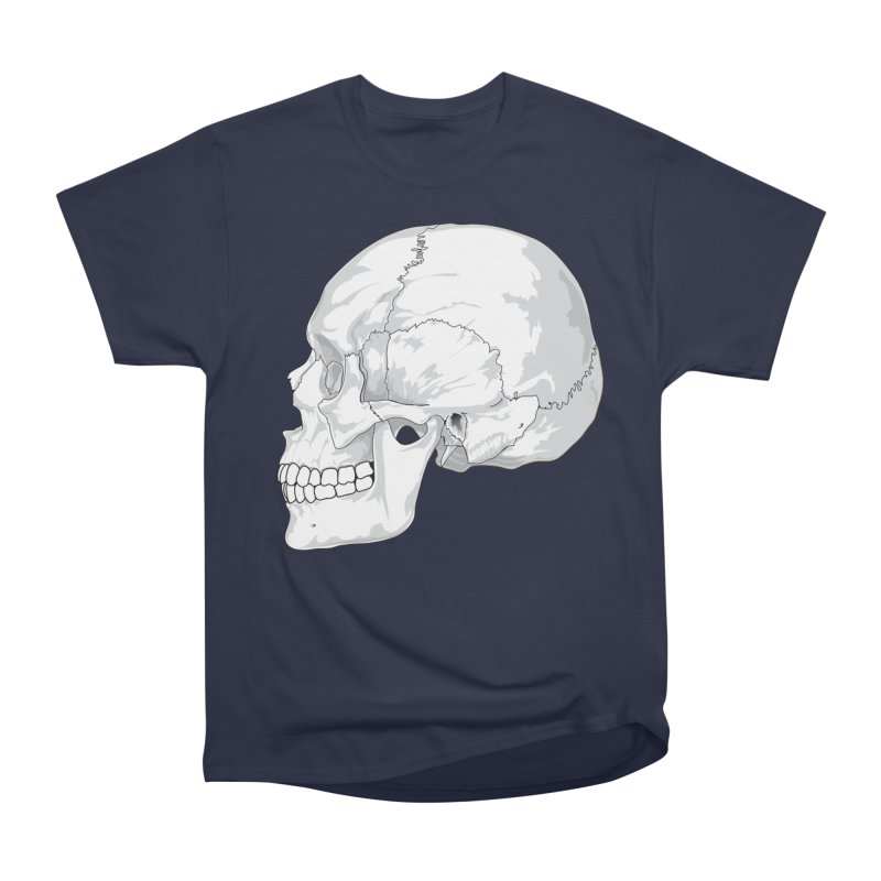 Skull Men's Heavyweight T-Shirt by Shirt For Brains