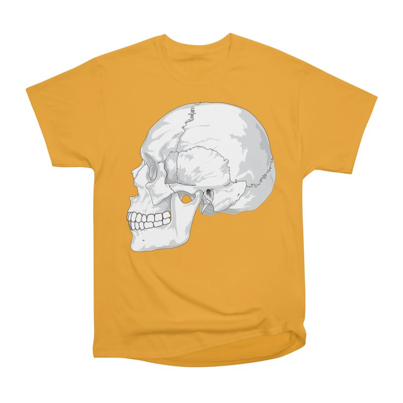 Skull Women's Heavyweight Unisex T-Shirt by Shirt For Brains