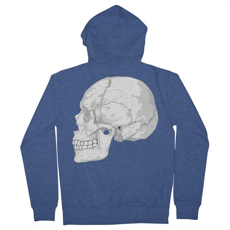 Skull Women's Zip-Up Hoody by Shirt For Brains