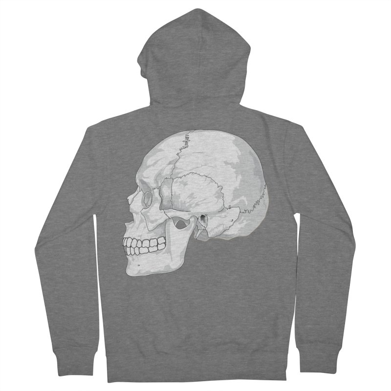 Skull Men's Zip-Up Hoody by Shirt For Brains
