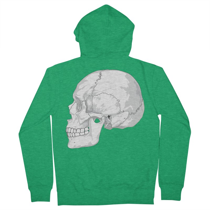 Skull Men's Zip-Up Hoody by Shirt For Brains