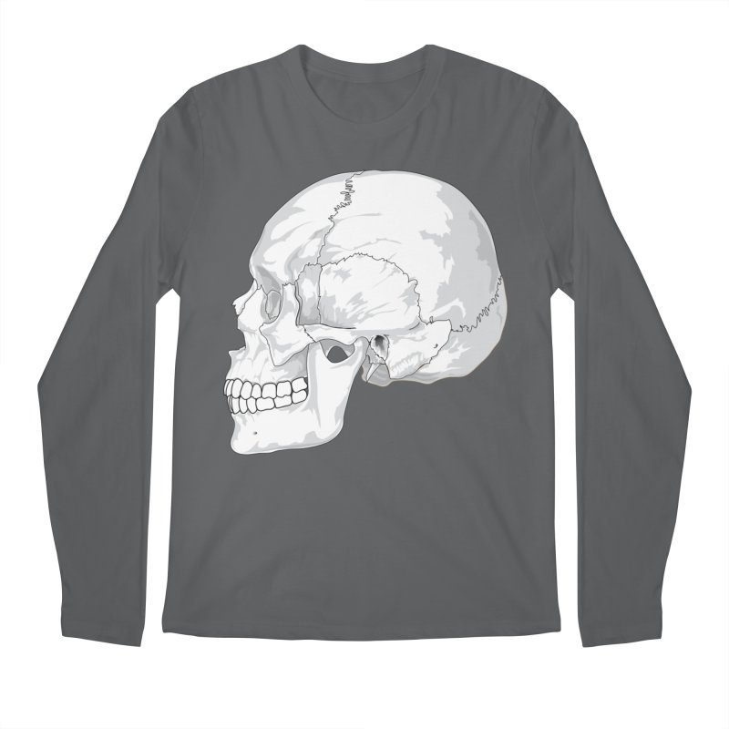 Skull Men's Longsleeve T-Shirt by Shirt For Brains