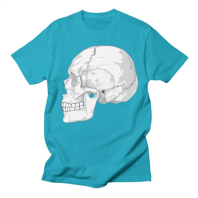 Skull Men's Regular T-Shirt by Shirt For Brains