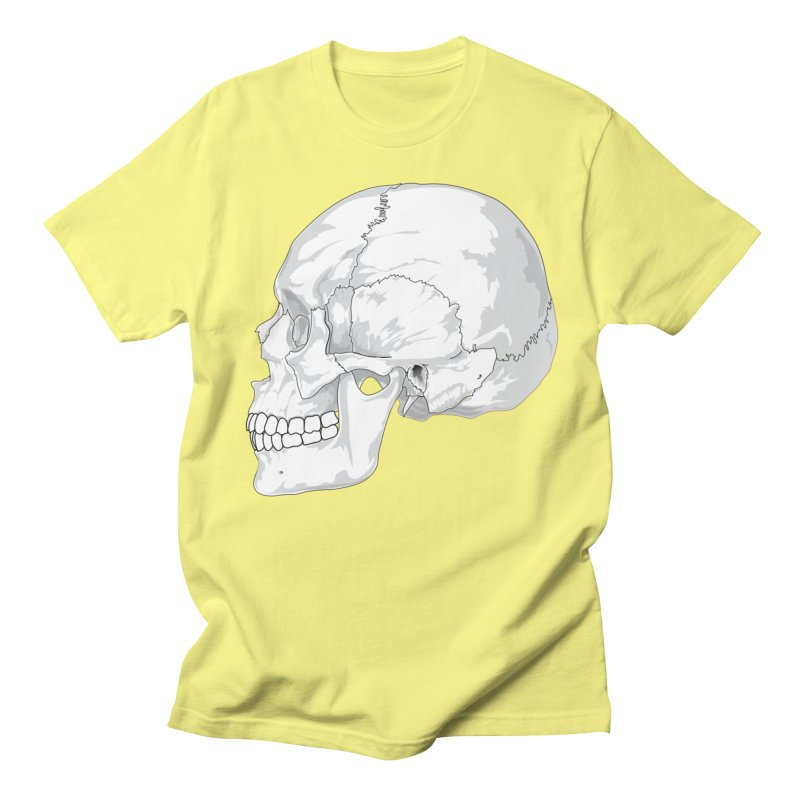 Skull Men's T-Shirt by Shirt For Brains