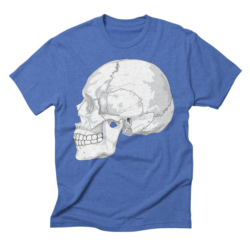 Skull Men's T-Shirt by Shirt For Brains