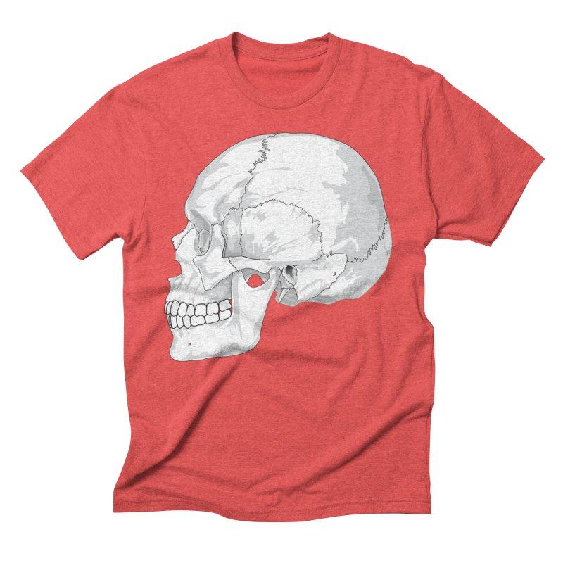 Skull Men's Triblend T-Shirt by Shirt For Brains