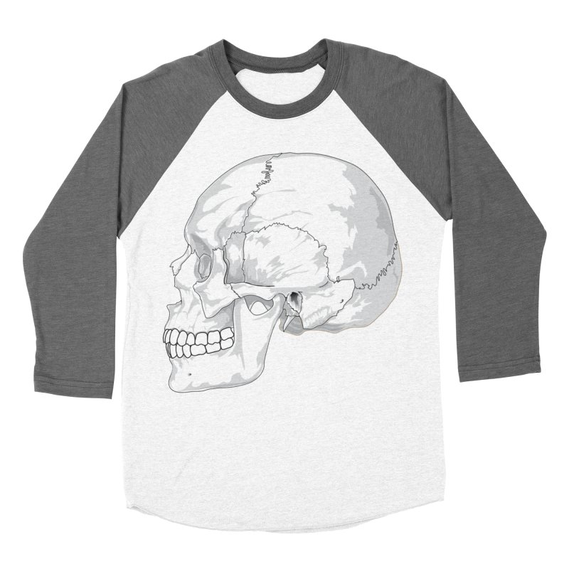 Skull Women's Baseball Triblend Longsleeve T-Shirt by Shirt For Brains