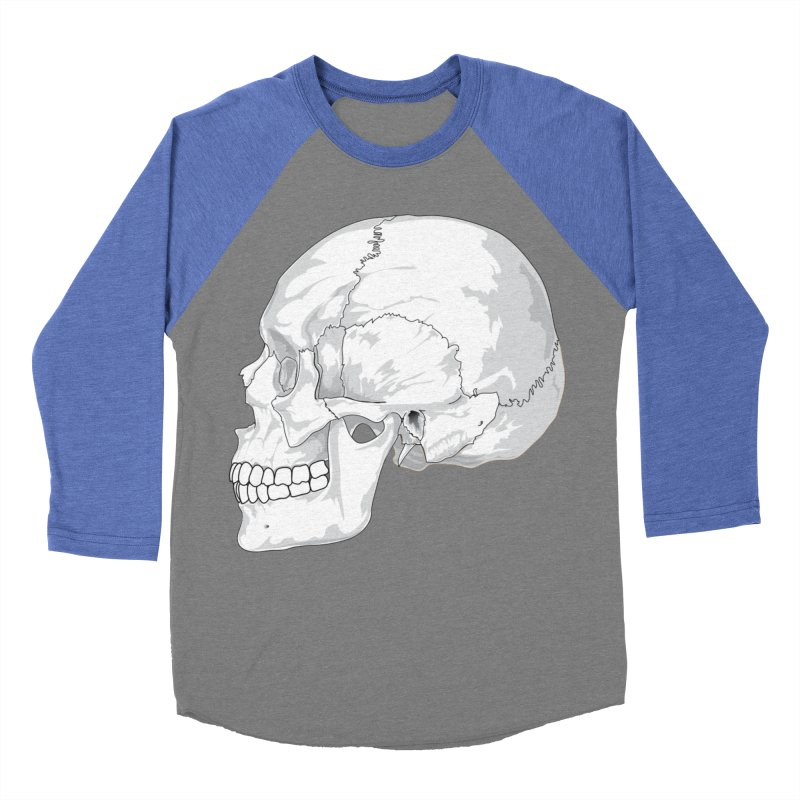 Skull Women's Baseball Triblend Longsleeve T-Shirt by Shirt For Brains