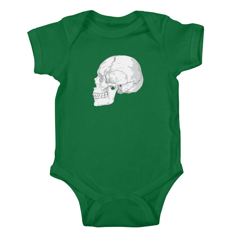 Skull Kids Baby Bodysuit by Shirt For Brains