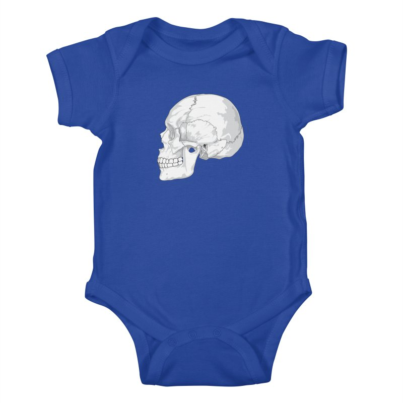 Skull Kids Baby Bodysuit by Shirt For Brains