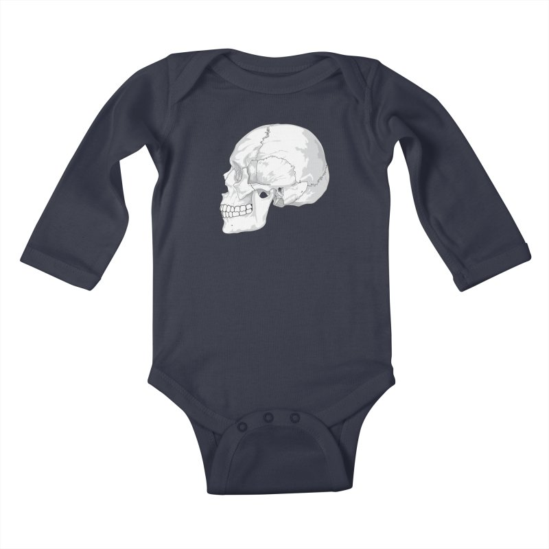 Skull Kids Baby Longsleeve Bodysuit by Shirt For Brains