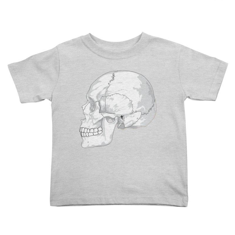 Skull Kids Toddler T-Shirt by Shirt For Brains
