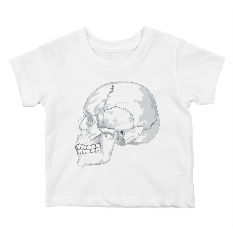 Skull Kids Baby T-Shirt by Shirt For Brains