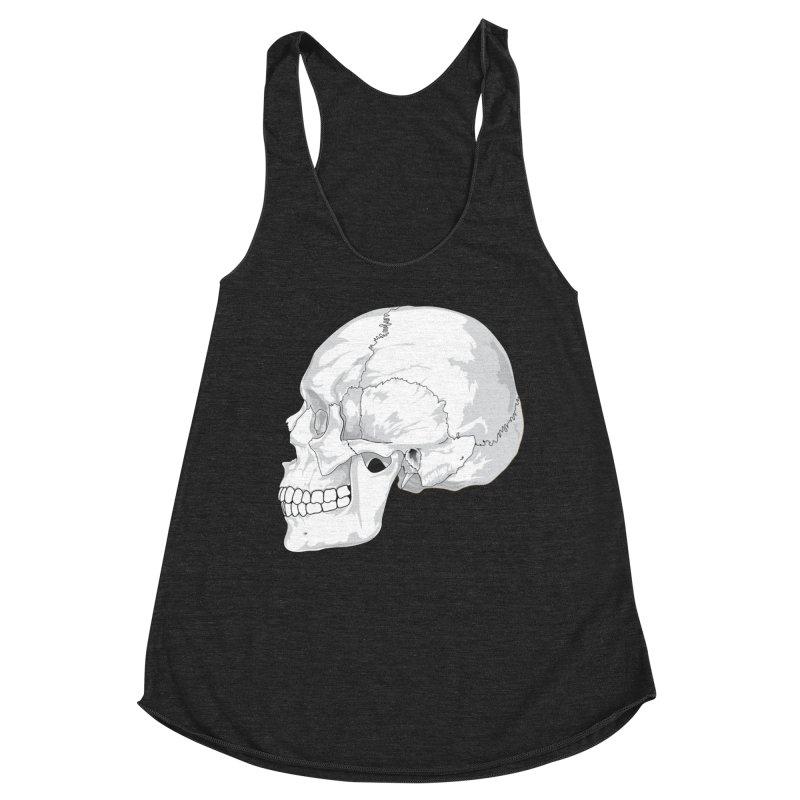 Skull Women's Tank by Shirt For Brains