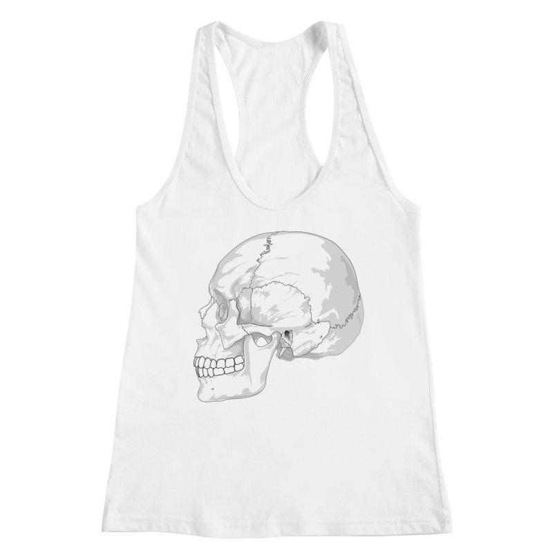 Skull Women's Tank by Shirt For Brains