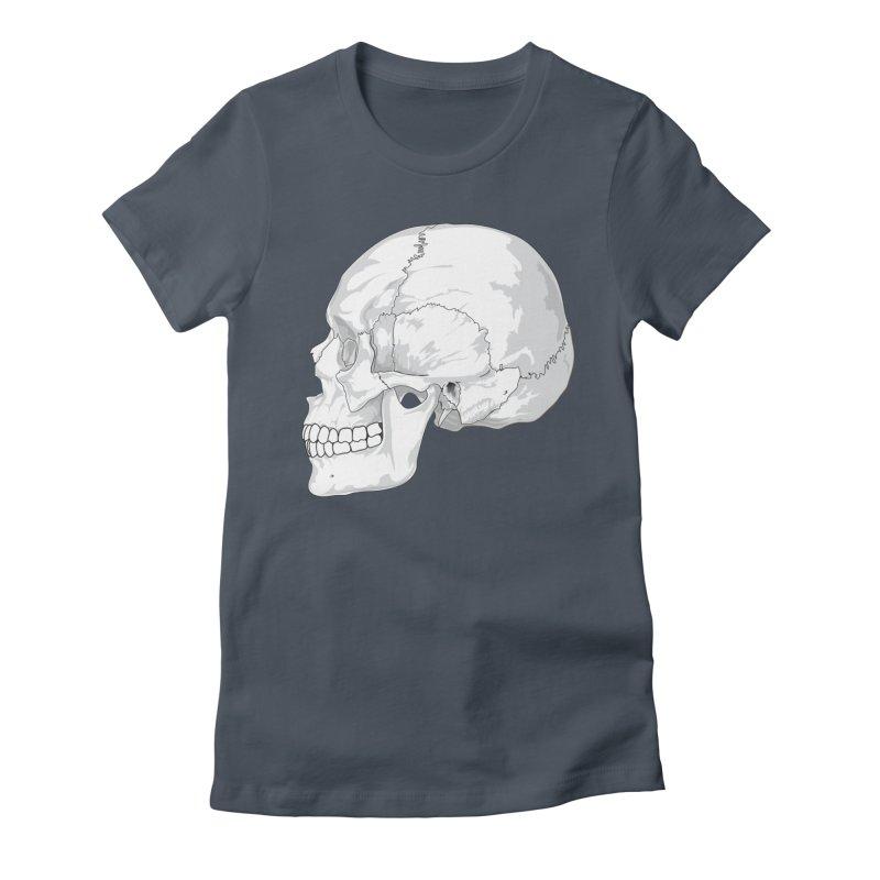 Skull Women's T-Shirt by Shirt For Brains