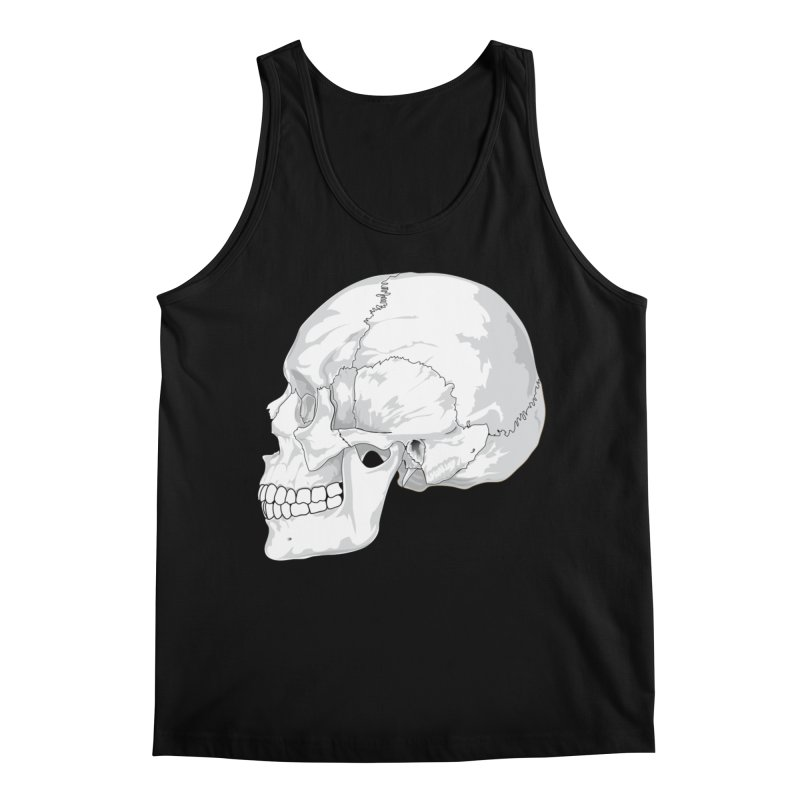 Skull Men's Tank by Shirt For Brains
