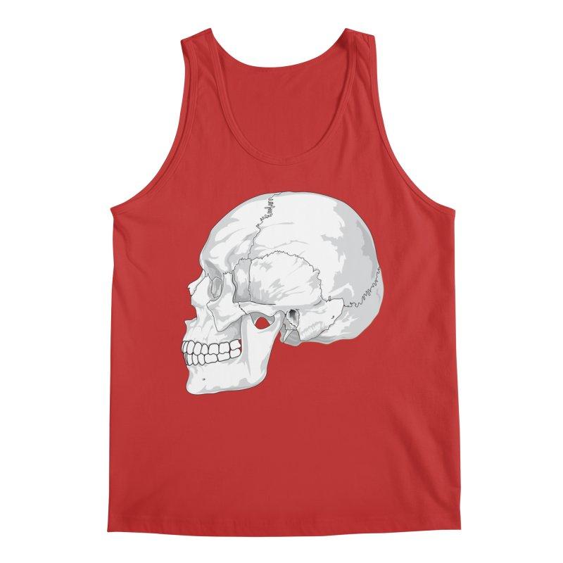 Skull Men's Tank by Shirt For Brains